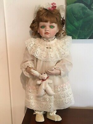 "Hamilton Collection Bisque Porcelain Doll - ""Amelia"""