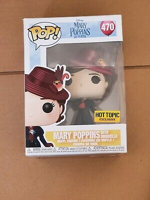 Funko Pop! Disney MARY POPPINS With Umbrella #470 Hot Topic Exclusive