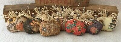 Primitive Ornies Fall  PUMPKINS Thanksgiving Mini Bowl Fillers Make Do's