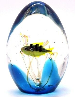 Marvelous MURANO FISH AQUARIUM Art Glass Paperweight Sculpture ELIO  RAFFAELI
