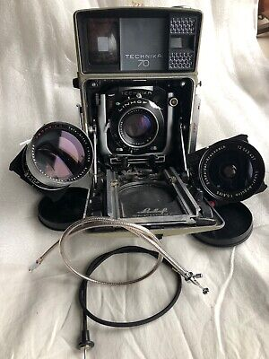 Linhof Technica  70 with 3 lenses  used but excellent condition