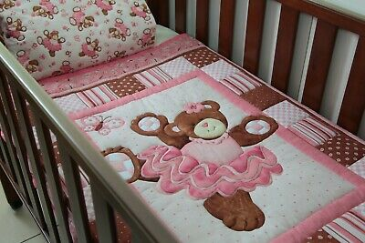 Traditional Belinda Bear Cot Quilt with pillow case