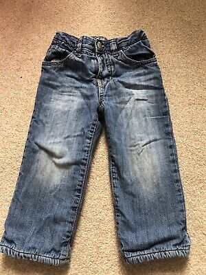 Baby Gap Boys Lined Jeans Soft Aged 18-24 Months Blue