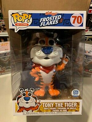 Funko Pop 10 Inch Tony the Tiger #70 Ad Icon Frosted Flakes FUNKO SHOP EXCLUSIVE