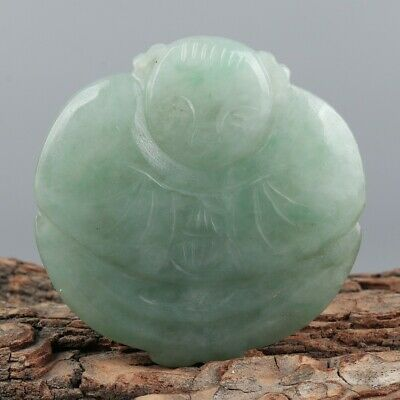 Chinese Exquisite Hand carved child Carving jadeite statue