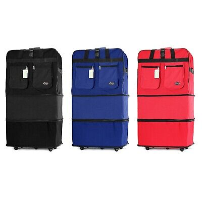 "30"" 36"" Rolling Wheeled Duffle Duffel Bag Spinner Suitcase Luggage Expandable"