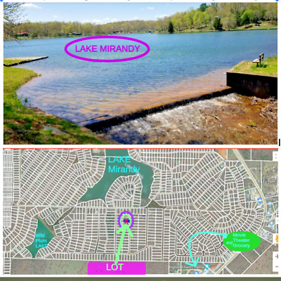$1start Bid .25 Acre Good Road LAKE MIRANDY Highland Arkansas High Bid Wins LAND