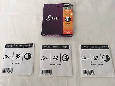 Elixir Strings 80/20 Bronze Acoustic Guitar Strings with NANOWEB Coating