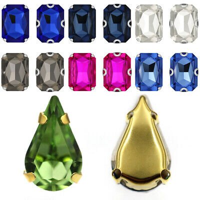 Mixed Color DIY Sewing With Claw Craft Crystal Rhinestone Glass Stones
