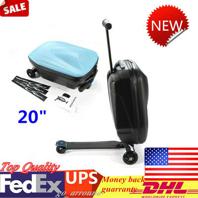 """20"""" Luggage Wheeled Rolling Suitcase Bag Scooter Luggage Trolley Travel Scooter"""