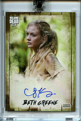 2018 Topps Walking Dead AUTOGRAPH Collection Emily Kinney as Beth Greene #9/10