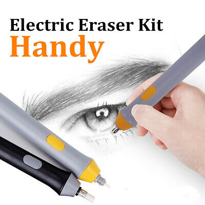Electric Eraser Battery Operated Automatic Pencil Eraser Kit with 22 Refills B
