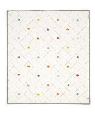 NEW Mamas and Papas POM POM Nestling Quilted Cot / Cot bed Coverlet