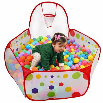 Portable Indoor Kids Baby Children Game Play Toy Tent Ocean Ball Pit Pool UK RED