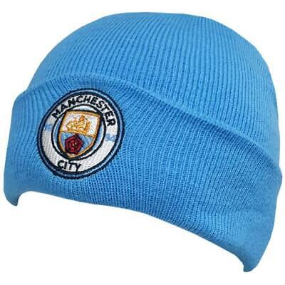 Manchester City F.C. Knitted Hat TU SK Blue Logo Crest Sport Football Gift Idea