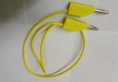 500mm Test Lead 4mm Banana Stacking Stackable Plug Yellow30vac-60vdc