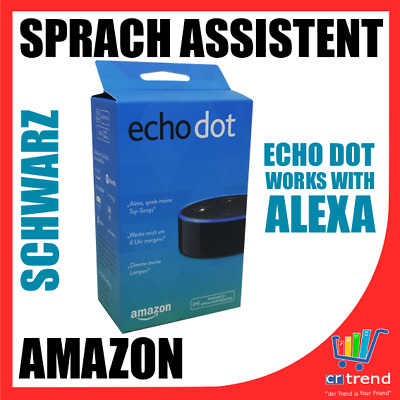 Amazon Echo Dot 2nd Generazione Nero Vocale Assistent con Amazon Alexa Nuovo Wow