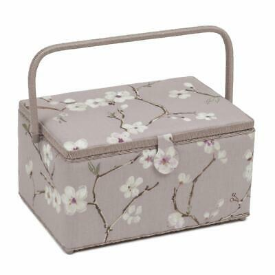 HobbyGift Extra Large Sewing Basket - Lilac Blossom Design Gift