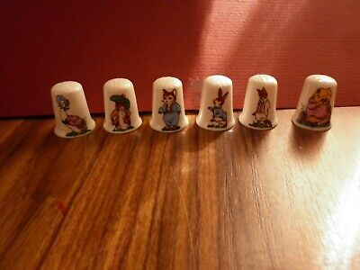 Thimbles Ceramic Peter Rabbit & Friends Old Collectables