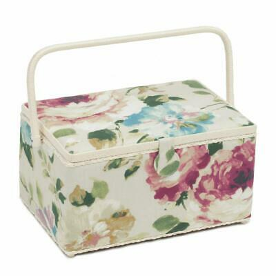 HobbyGift Extra Large Sewing Basket - Vintage Floral Design Gift