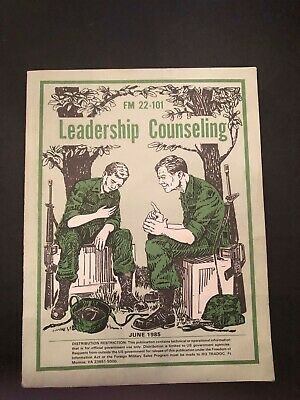 Book US Army FM 22-101 Training Tech Field LEADERSHIP COUNSELING 1985
