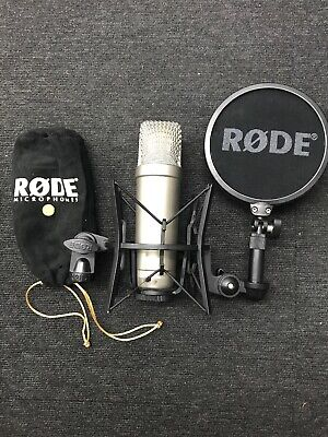 Rode Nt1-A Condenser Microphone - With Shock Mount And Pop Shield