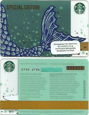 """GREECE  Starbucks card  NEW """" Mermaid / Special Edition """" 2019 - EXCELLENT"""