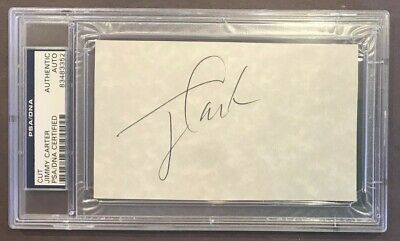 PSA ~ President  JIMMY CARTER signed CUT / AUTO ~ PSA Certified