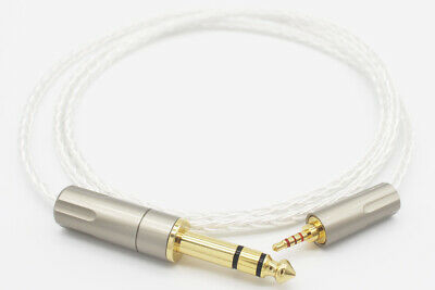 3.5mm Male to 4.4mm Male Silver Plated Headphone AUX Audio Cable in Box 1m