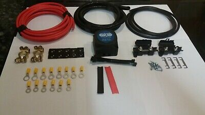 12V Professional Split Charge Kit With 140A Voltage Sensitive Relay 2M Long %
