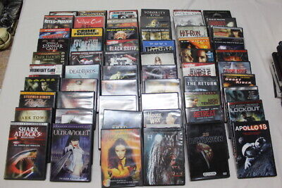 HORROR Adult DVD LOT of 60 Movies Wholesale Shows Classics Drama SCI-FI