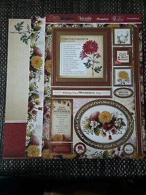 Hunkydory topper set - Birth flowers  - Chrysanthemum (November)