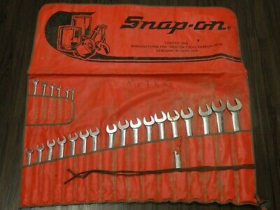 Snap On 23Pc Metric Combination Wrench Set 8MM 27 30MM 32MM OEXM 12Pt OEXM723KB