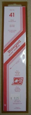 Showgard size 41 Clear hingeless stamp mount NEW unopened pack 1st quality 215mm