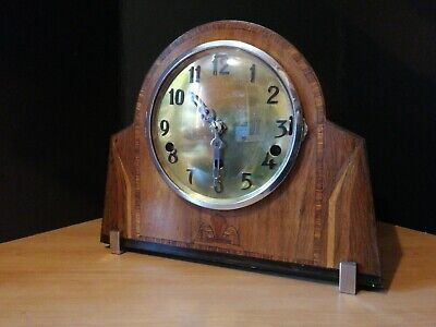 Antique German WESTMINSTER MANTLE CLOCK art deco style