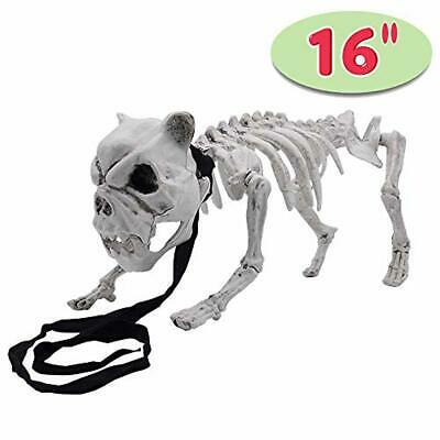 """16"""" Pose-N-Stay Puppy Skeleton Plastic Dog Bones with Posable Joints for Hallo"""