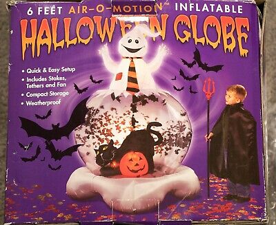 Halloween Inflatable Air-O-Motion Whirlwind Snow Globe 6 ft Tall Ghosts BATS