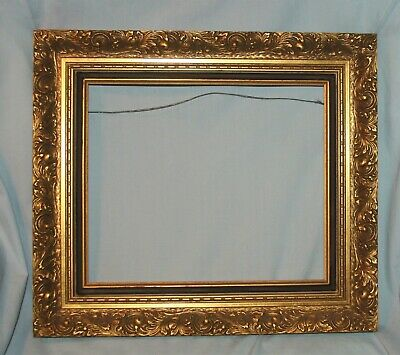 "Ornate Vintage Gold Gilt Layered Wood Picture Art Mirror Frame 10"" x 12"""