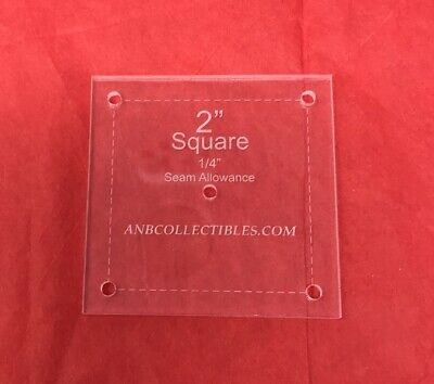 """1/4"""" Thick Acrylic Square Quilting Template (Choice of Sizes)"""