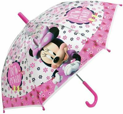 Children's Official Licensed Minnie Mouse Transparent Umbrella Brand New