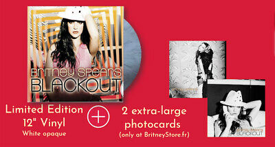 """Britney Spears """"Blackout"""" vinyl LP - limited & brand new + 2 large photocards !"""