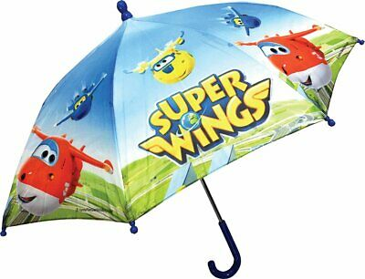 Super Wings Children's Taslon Genuine Licensed Folding Umbrella Brand New