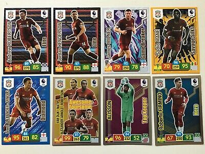 Panini Adrenalyn Xl Premier League 2019/20 Liverpool 8 Special Insert Cards