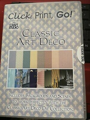 Tattered Lace CLASSIC ART DECO CD ROM My Craft Studio Elite - Incl. Backgrounds