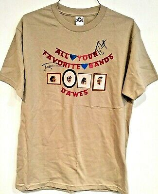 NEW Unworn DAWES SIGNED All Your Favorite Bands Concert Tee T-Shirt Men's Large