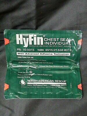 North American Rescue Hyfin Chest Seal Gauze PN 10-0015 NEW Sealed