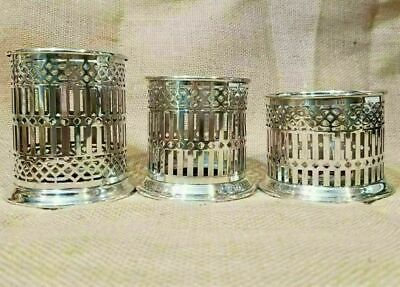 Reticulated Votive Candle Holders Bernard Rices Sons Apollo EPNS Silverplate