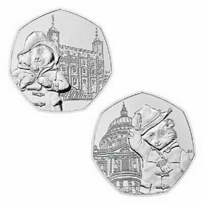 2019 Paddington Bear at Tower of London & St Pauls Cathedral 50p On A Blue Card