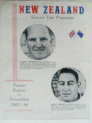 New Zealand All Blacks Rugby Union tour programme 1963-64