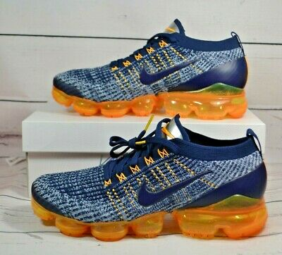 Nib Mens Nike Air Vapormax Flyknit 3 College Navy Sneakers Shoes Mult Sz